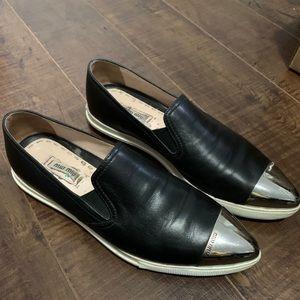 Miu Miu Black Cap-Toe Sneakers